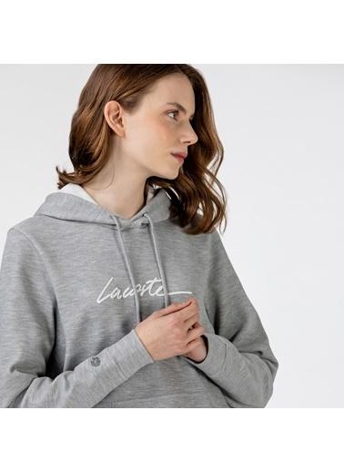 Lacoste Kadın Kapüşonlu Sweatshirt SF0112.12G Gri